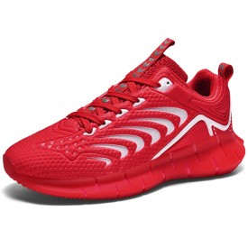 Red Luminous Taller Men Sneakers Breathable Tide Low-cut Bowling Shoes Increase Height 2.4inch / 6cm