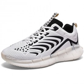 White Luminous Hidden Taller Sneakers Breathable Tide Low-cut Bowling Shoes Increase 2.4inch / 6cm
