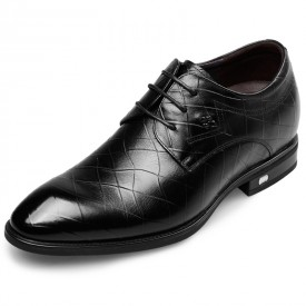 Awesome Bridegroom Elevator Shoes Height 2.6inch / 6.5cm Black Taller Dress Shoes