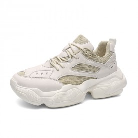 979cc75b1ee Beige Elevator Vintage Sneakers Light Fashion Height Increasing Walking  Shoes Tall 2.8inch   7cm