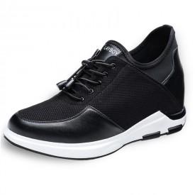 Hidden Heel Lift Sneakers Slip On Elevator Casual Shoes Make You Look Taller 4Inch / 10cm