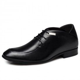 Fresh Men elevator dress shoe make you taller 6cm / 2.36inches business height increasing footwear
