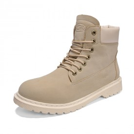 Retro Height Increasing Ankle Boots Grey Nubuck Work Boots Elevator Desert Boots 3.6inch / 9cm