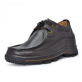 Dark brown men height increase casual shoes can be taller 8cm / 3.15inches
