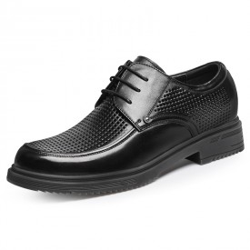 Extra Taller Formal Sandals Elegant Height Increasing Perforated Derby Shoes Gain Taller 3.2inch / 8cm