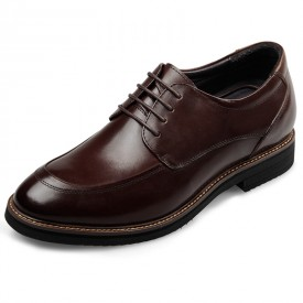 Classic Height Increasing Formal Shoes Taller 2.6inch / 6.5cm Brown Heel Lift Dress Shoes