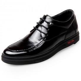 European Elevator Business Dress Shoes 2.4inch / 6cm Black Calfskin Taller Formal Shoes