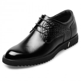 Elegant Height Enhancing Dress Shoes Taller 2.4inch / 6cm Lace Up Elevator Guide Shoes