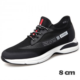 Campus Taller Sneakers Casual Flyknit Mesh Shoes Increase Height 3.2inch / 8cm