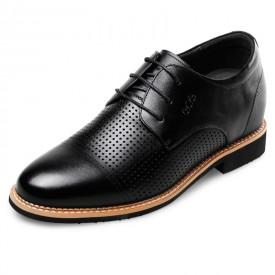 Morden Elevator Formal Sandals 2.6inch / 6.5cm Black Lace up Talller oxfords