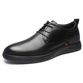 Flexible Hidden Lift Formal Shoes Soft Leather Elevator Tuxedo Dress Oxfords Increase Taller 2.4inch / 6cm