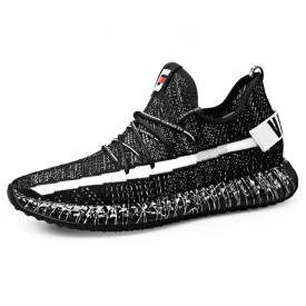 2019 Performance Elevator Trainers Lightweight Knitted Walking Shoes Increase Height 2.4inch / 6cm