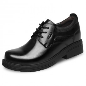 4inch Taller Busines Shoes Lace Up Height Elevator Cowhide Derbies Increase 10cm