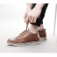 Brown Simple Elevator Men Casual Shoes Increase 2.4inch / 6cm Genuine Leather Business Shoes