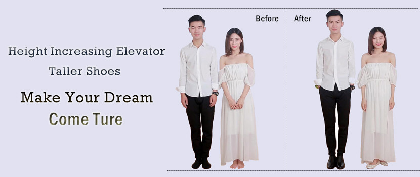 Elevator Shoes Men Height Increasing Shoe Gain Taller for Short People