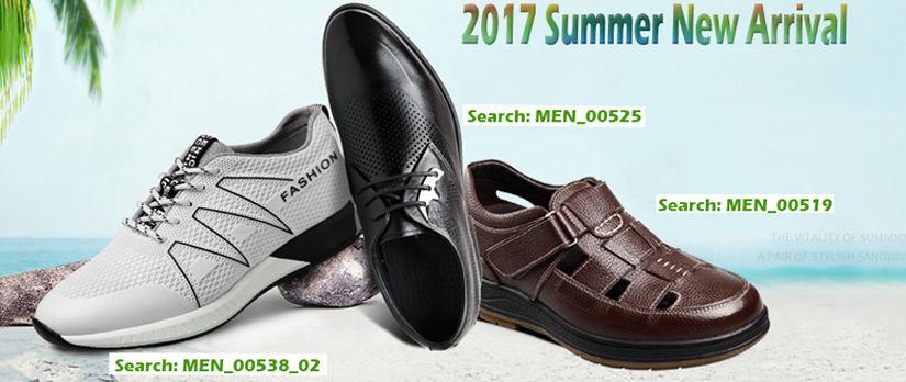 2017 new arrival summer elevator shoes for men