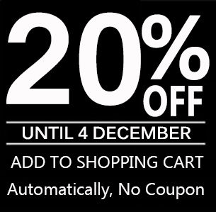 Black Friday and Cyber Monday Sales will be automatically 20% off for entire orders