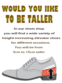 In Topoutshoes shop you will find a wide variety of height increasing elevator shoes for different occasions