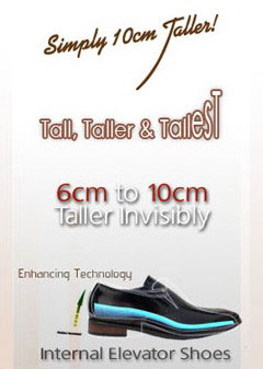 Comfortable Height Increasing Elevator Shoes Grow Taller